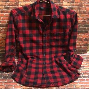 Uniqlo Buffalo Plaid Flannel Shirt XS EUC